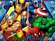 Play Marvel Heroes - Hangman