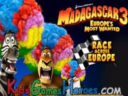 Play Madagascar - Race Across Europe
