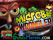 Play Monsters Vs Aliens - Dr. Cockroach Microbe Wrangler