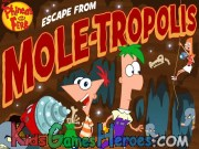 Play Phineas and Ferb - Escape from Mole-Tropolis