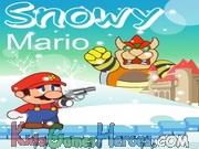 Snowy Mario Icon
