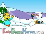 Play Springfield Sonw Fight