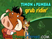 Play Timon and Pumbaa - Grub Ridin