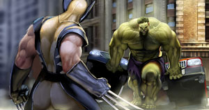 Wolverine and Hulk