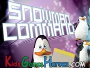 Play The Penguins of Madagascar - Snowman Command
